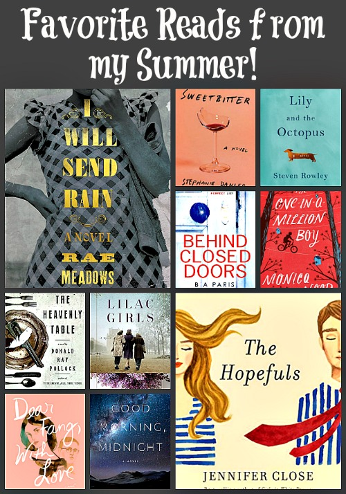 Favorite Summer Reads - A look back at ten of Novel Visits favorite reads from the summer of 2016. Two favorite books in each of five categories are revisited!
