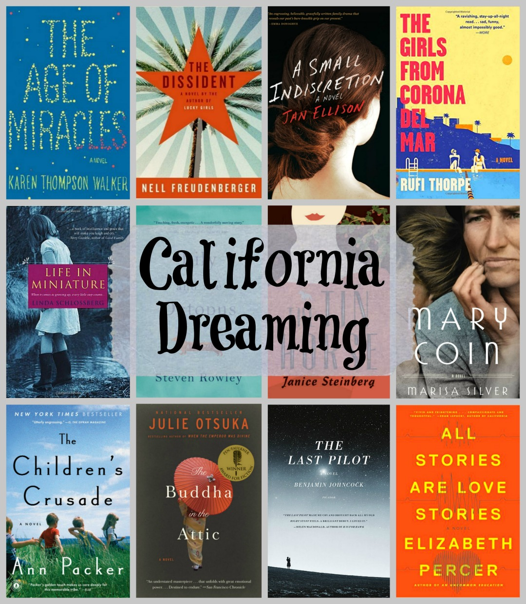 California Dreaming - A look at twelve amazing novels all set in California.
