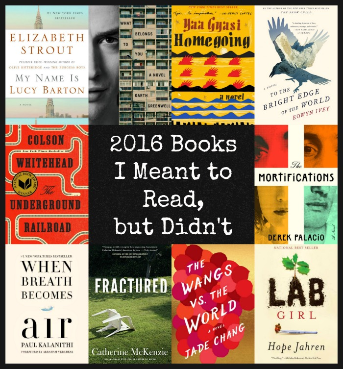 2016 Books I Meant to Read - Ten outstanding books that I didn't read in 2016. A look at why I didn't get to them and predictions on which ones I'll read before too much time passes!