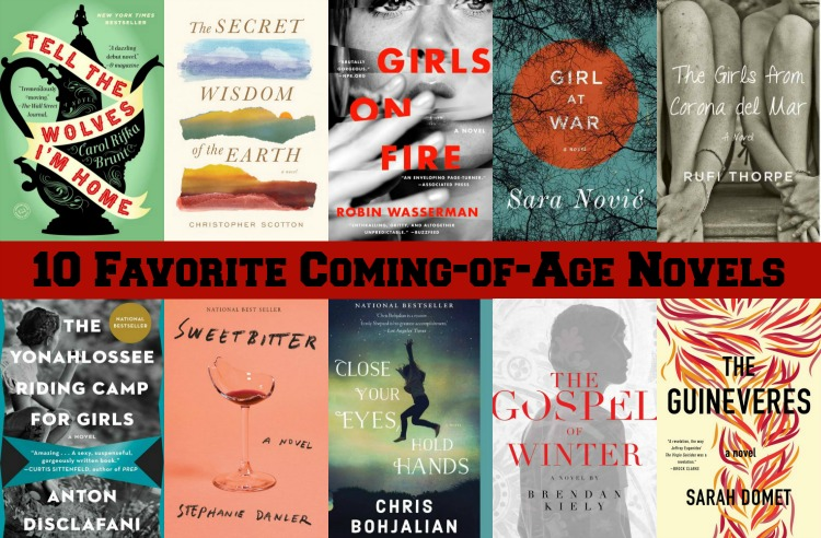 10 Favorite Coming-of-Age Novels - This is one of my favorite book genres. I'm highlighting 10 of these books that are among my all time favorites.