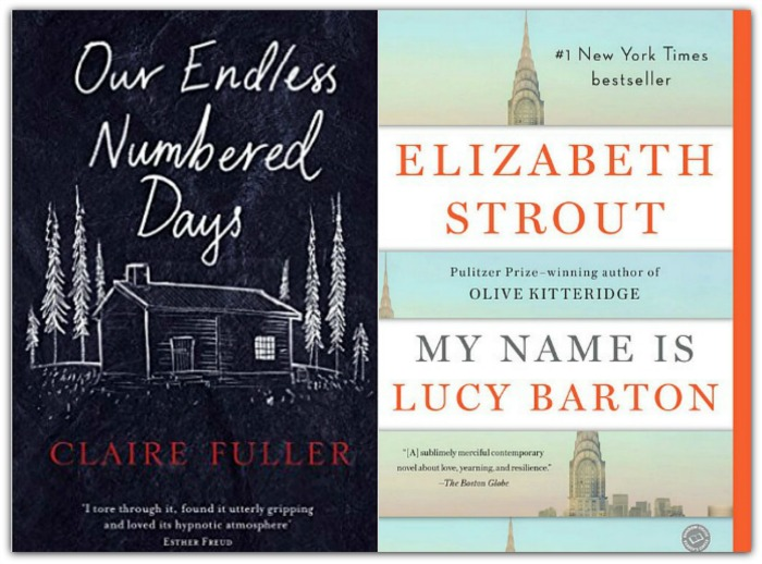 Picture of Our Endless Numbered Days by Clair Fuller and My Name is Lucy Barton by Elizabeth Strout (finished reading both)