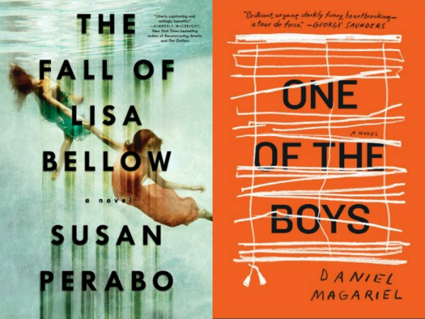 the fall of Lisa Bellow by Susan Perabo and One of the Boys by Daniel Magariel