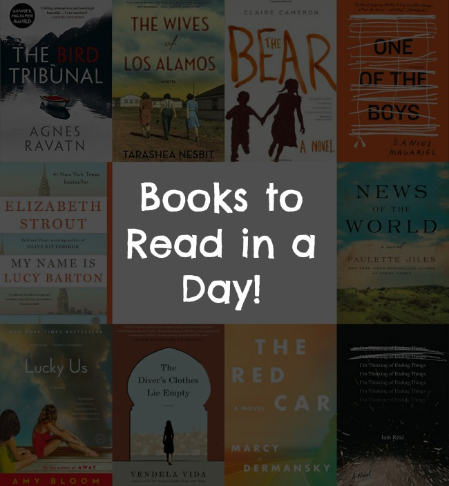 Books to Read in a Day! - A look at 10 books, under 250 pages, that have amazing stories & will leave readers itching to pick up their next great book.
