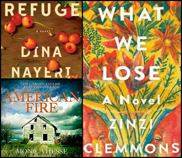 Refuge by Dina Nayeri, American Fire by Monica Hesse and What We Lose by Zinzi Clemmons